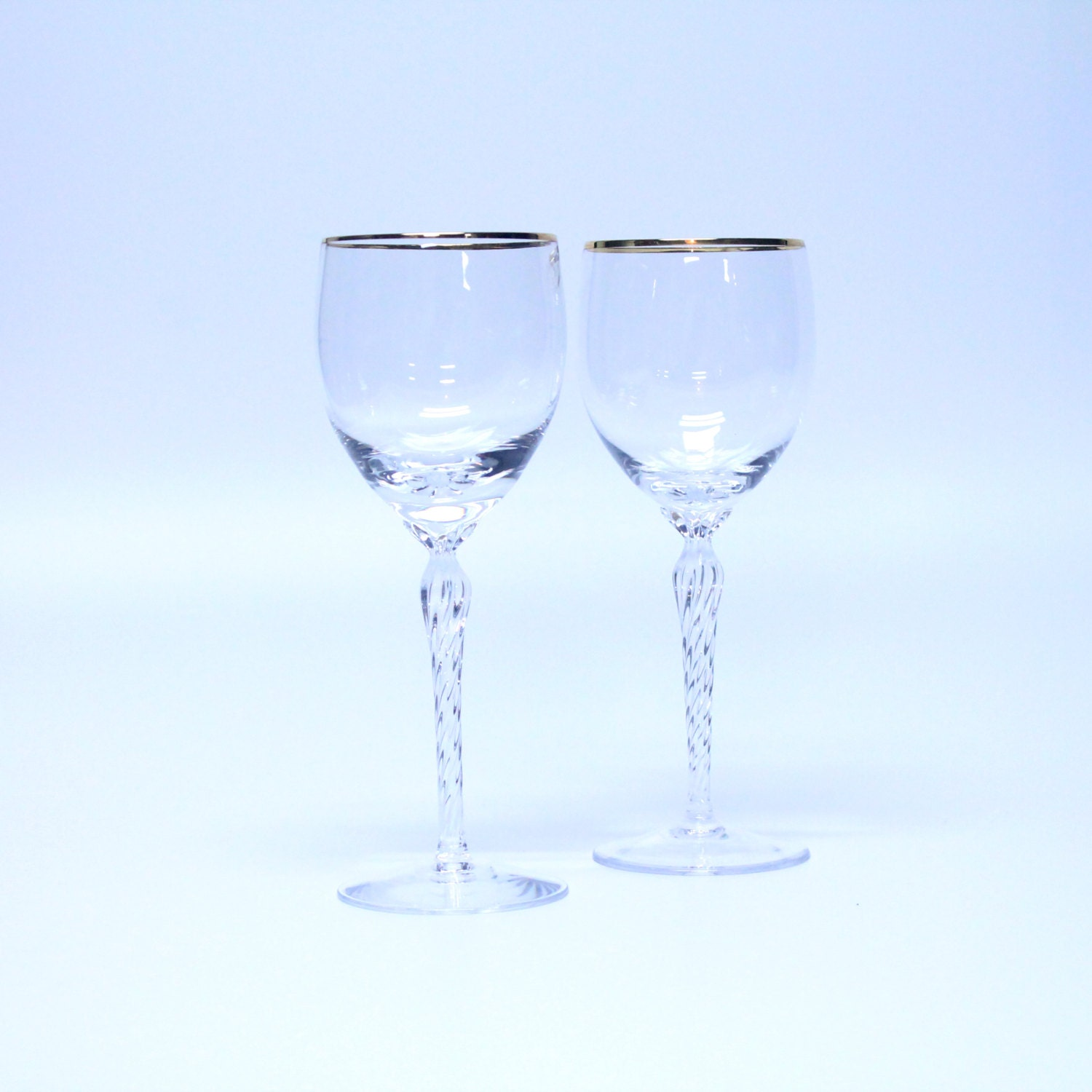 Popular items for gold rimmed on etsy - Lenox gold rimmed wine glasses ...