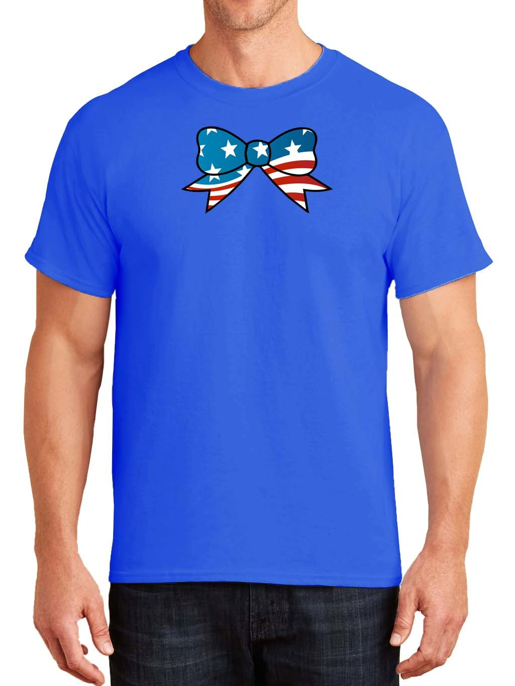 USA Bow Tie Mens TShirt Father Dad Fathers Day Son Novelty Happy Birthday Football American Flag Patriotic Fourth July Independence Day