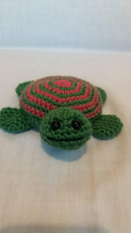 Crochet Turtle  Sea turtle  Soft toy turtle  Turtle gift  Sea creature  Handmade turtle toy  Small turtle