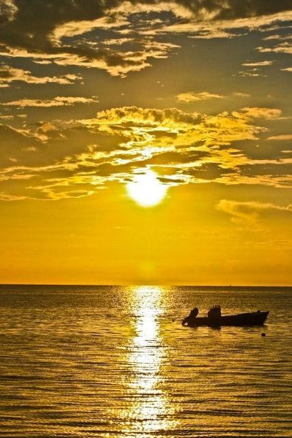 Summer Sunset Fine Art Photography Print Yellow Ocean Sea Sun Sunny Home Decor Wall Art Summer Bright 8x10 - debstgo