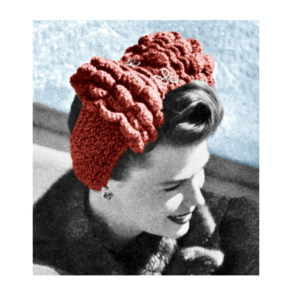 Vintage Knitting Crochet Pattern 1940s Ruffled by ...
