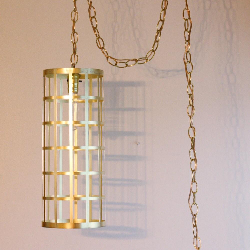 Vintage Hanging Light Hanging Lamp Cylinder By Oldcottonwood