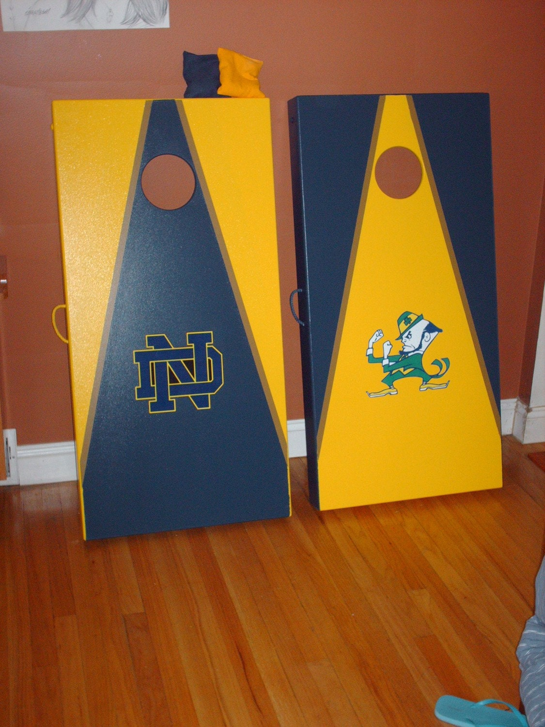 post your corn hole board ideadesign archive irish envy notre dame football discussion - Cornhole Design Ideas