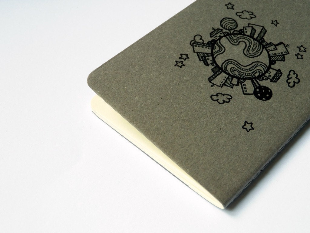 Moleskine Pocket  Skyline World Notebook Cahier journal hand drawn - vitaminaeu