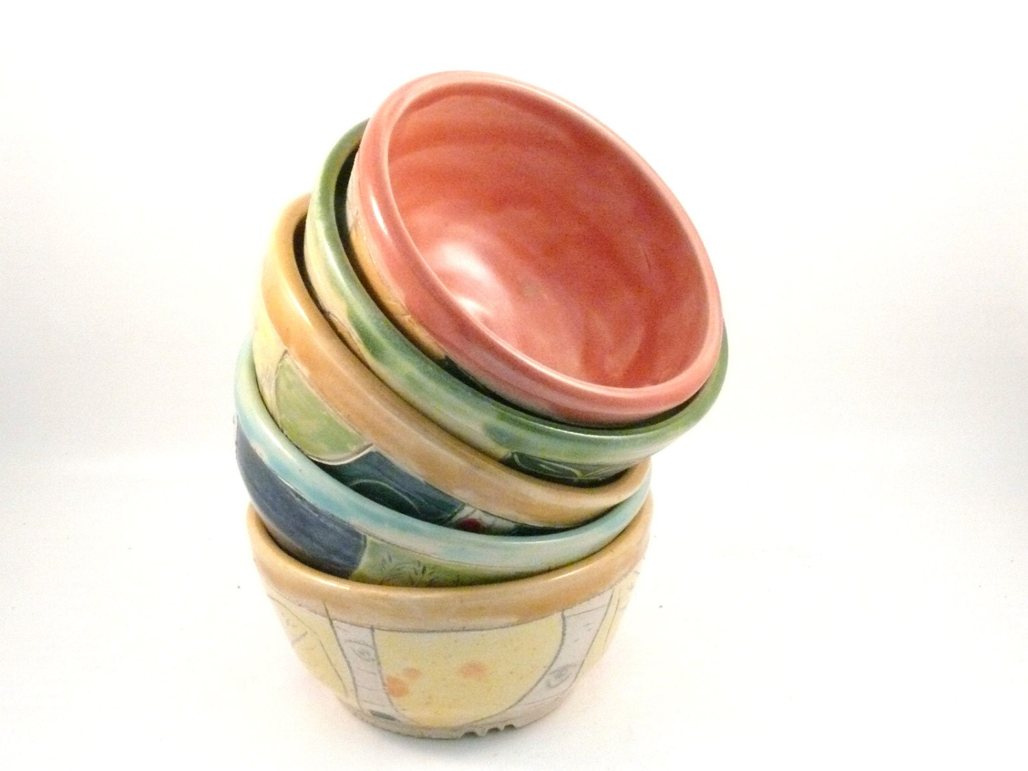 One Ceramic Handmade Salad bowl, cereal bowl or soup bowl  - holds 3 cups