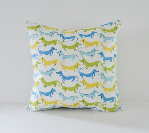 Decorative Pillows Dog : Dog Pillow Cover Decorative Pillows Throw by BlossomPillowCo