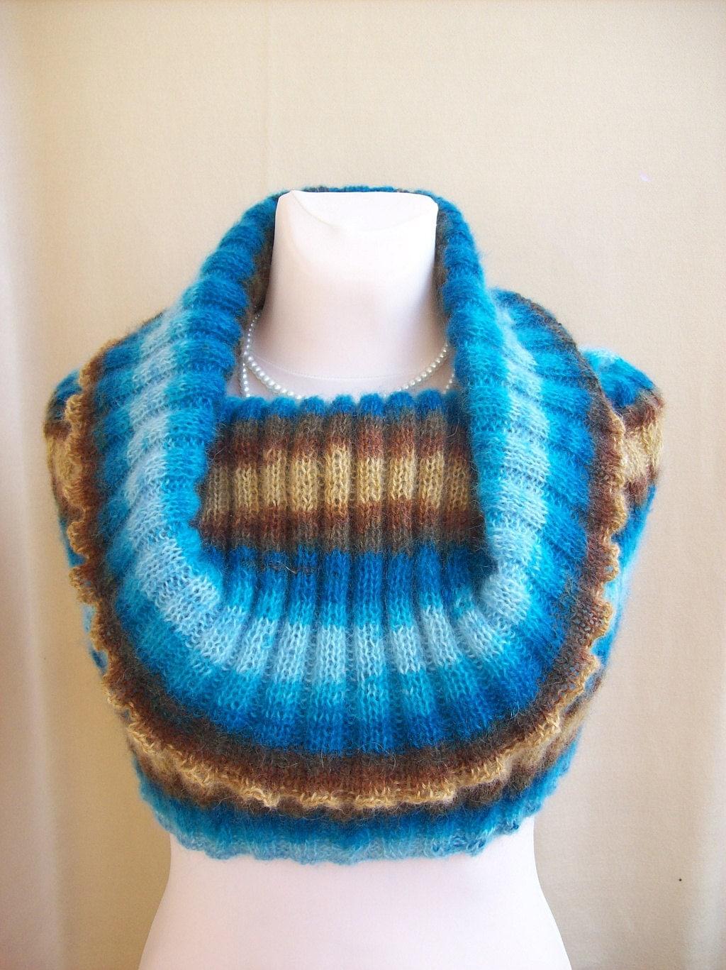 Multicolor Cowl/Neckwarmer/Poncho - dosiak