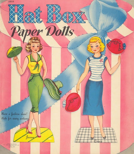 Vintage HATBOX PAPER DOLLS of 1954 Digital E book - vintagelovesyou
