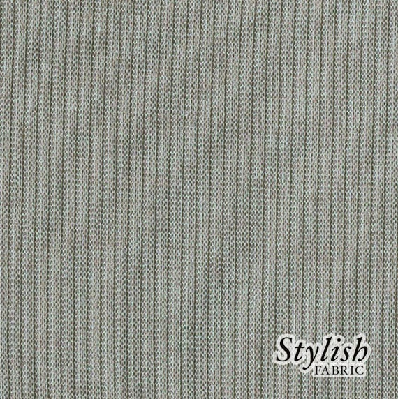Heather GRAY Rib Knit Fabric Ribbing Fabric By StylishFabric