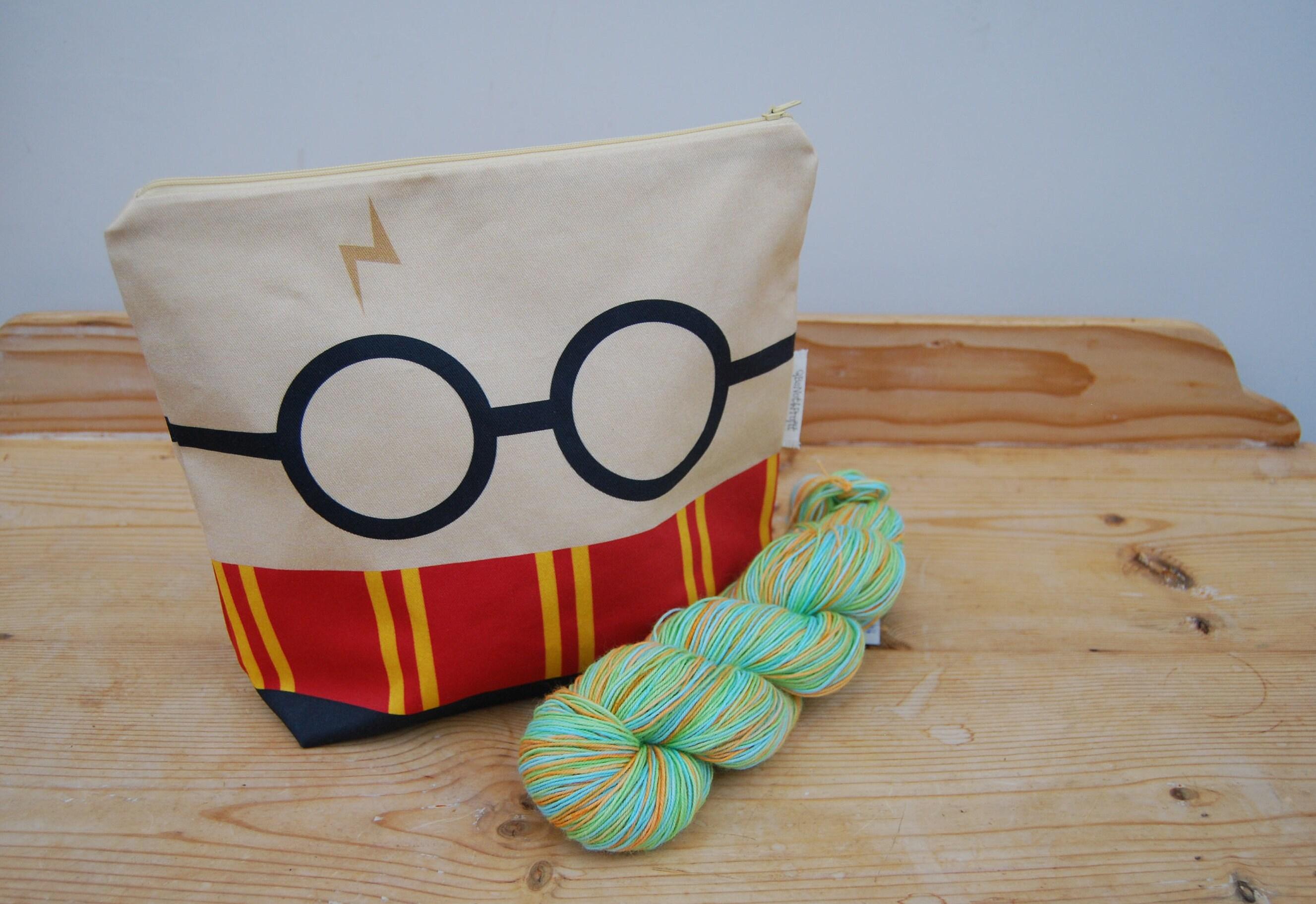 Medium knitting  crochet project bag  Harry Potter themed  Make up bag