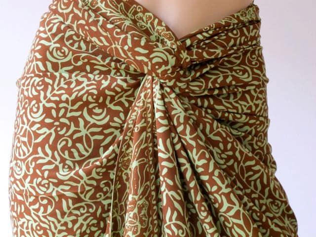 Batik Sarong, Pareo, beach cover up - silkzdesign