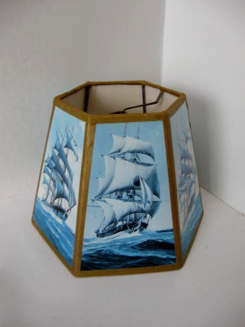 Vintage Nautical Lamp Shade By Jonscreations On Etsy