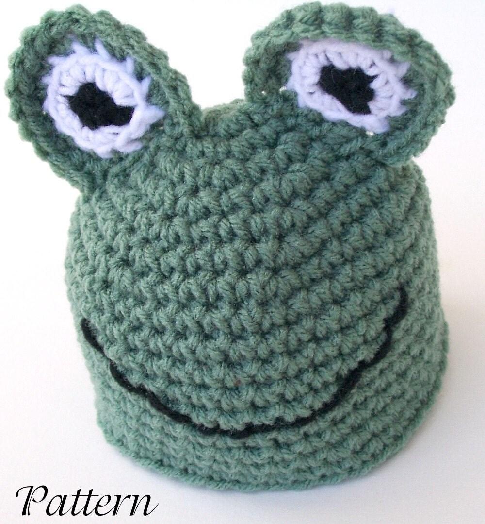 Free Crochet Pattern Newborn Frog Hat : Frog baby hat PDF Crochet PATTERN newborn-2 by ...