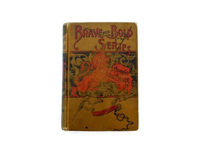Vintage Shifting for Himself, Horatio Alger Jr, olive green, Rare - vintagetoyshoppe