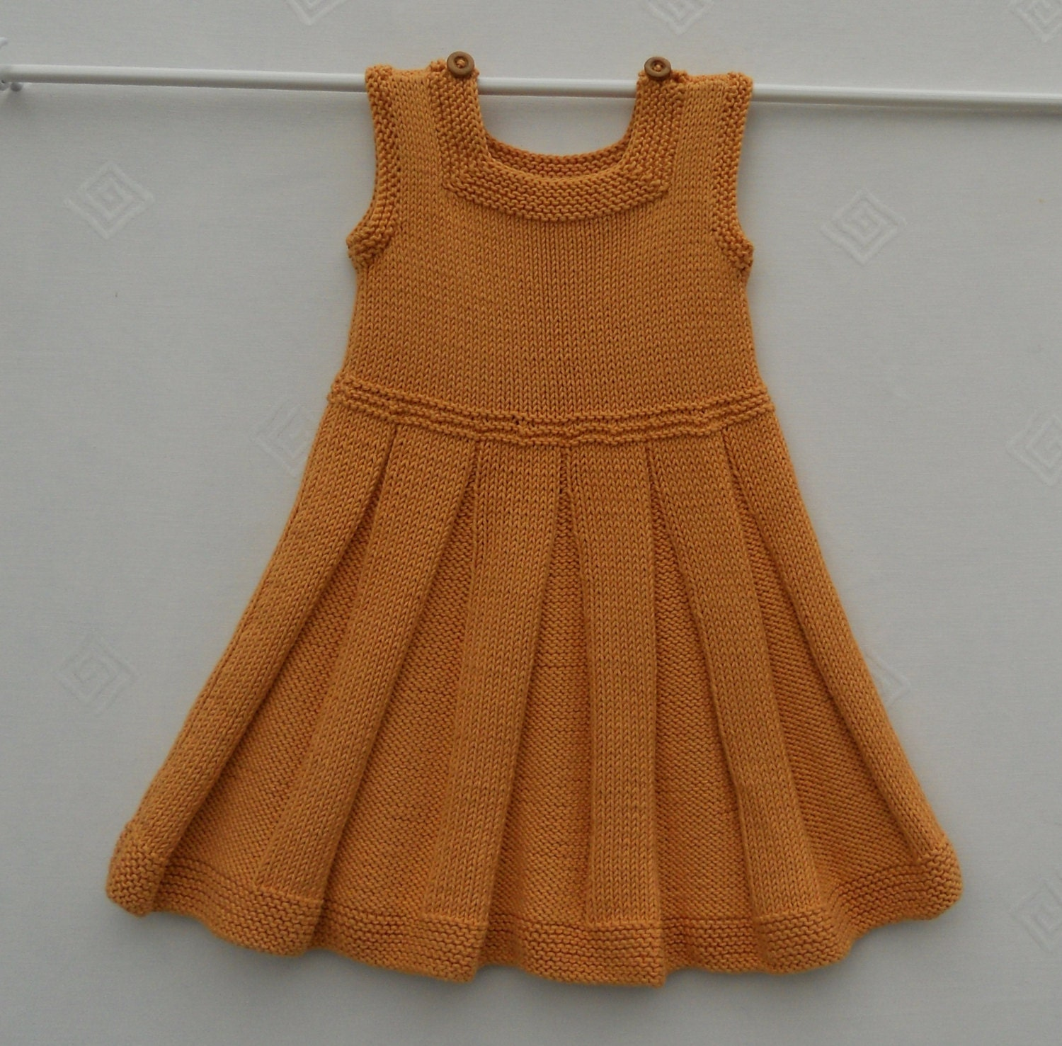 Knitting Dress For Girl : Baby girl toddler dress or pinafore hand knitted in by