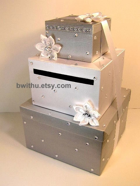 Wedding Card Box Gift Card Box Money Box Holder--Customize your color