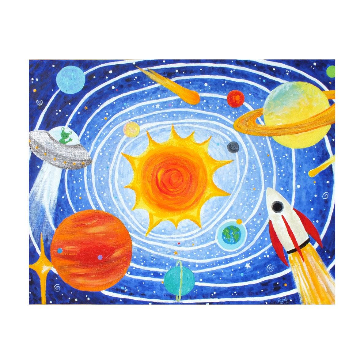 Pics for solar system art for kids for Solar for kids