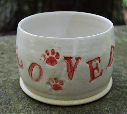 Spaniel Long Earred Dog Feeding or Water Bowl for YOUR Small Sized Dog Hand Made by Big Dog Pots - Bigdogpots