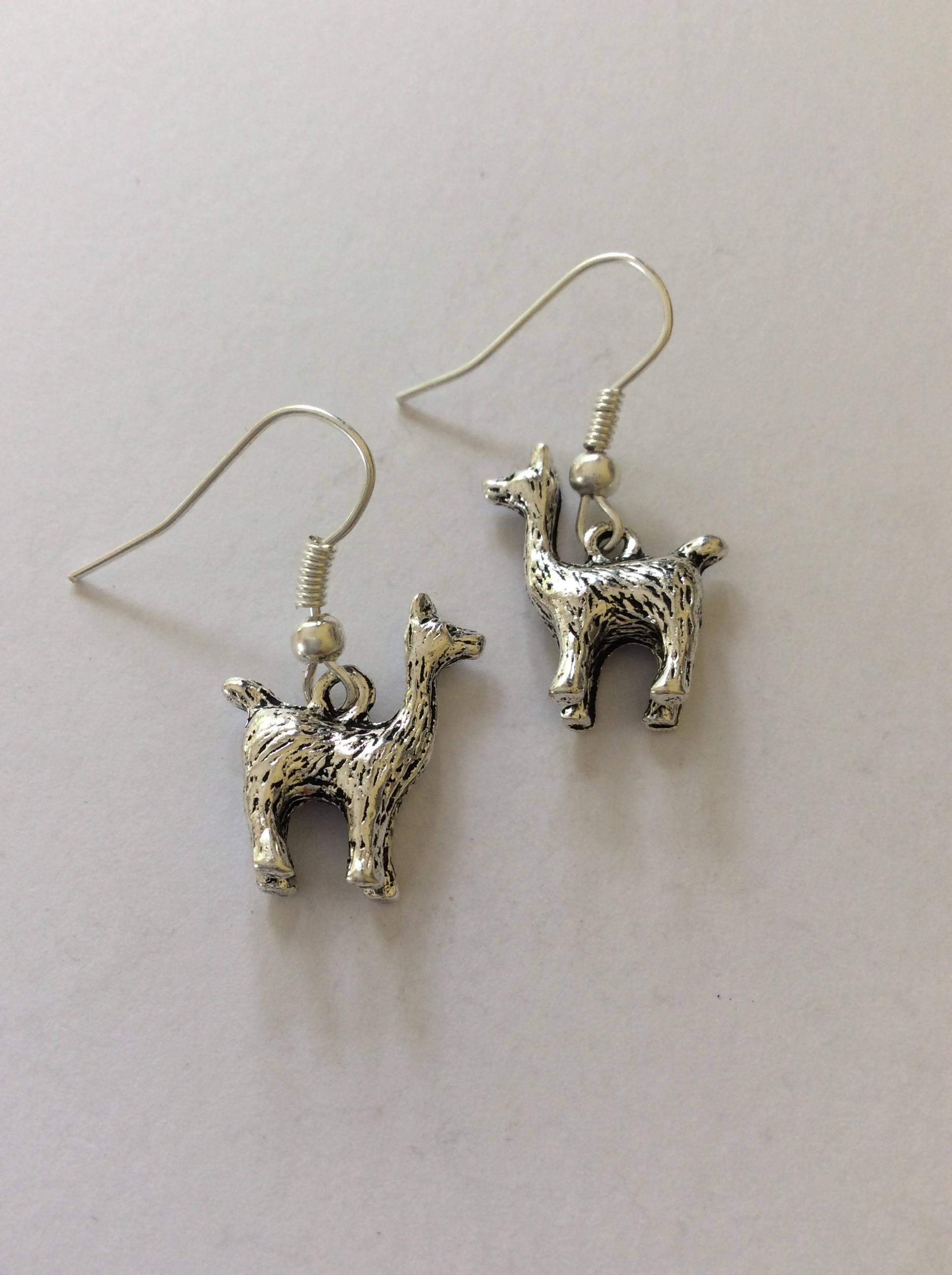 Llama earrings  Llama Jewellery  animal earrings  animal jewellery  animal lover gift