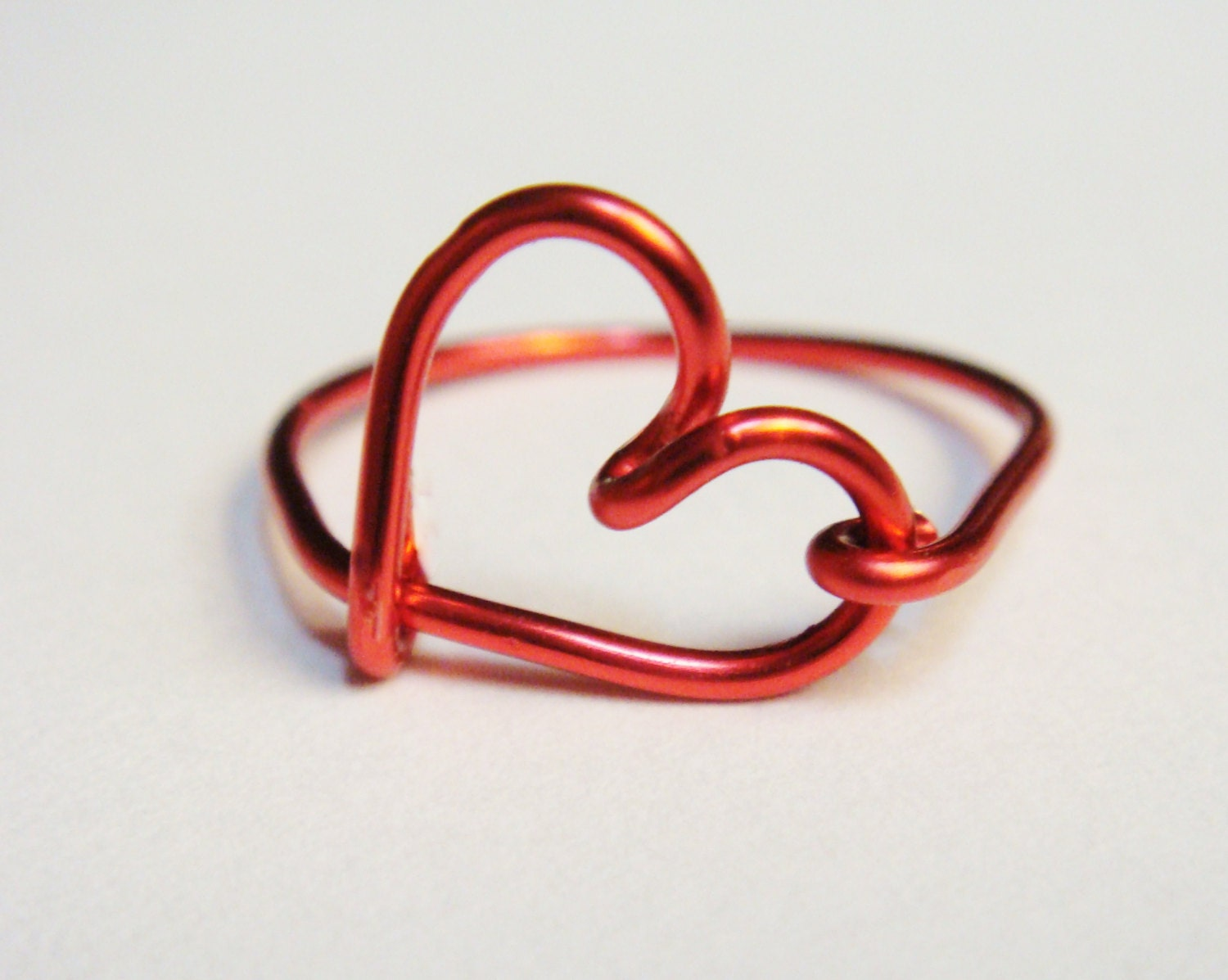 Valentines Ring   Valentines Jewelry  Heart Rings   Red Heart Ring - SimplyEarcuffs