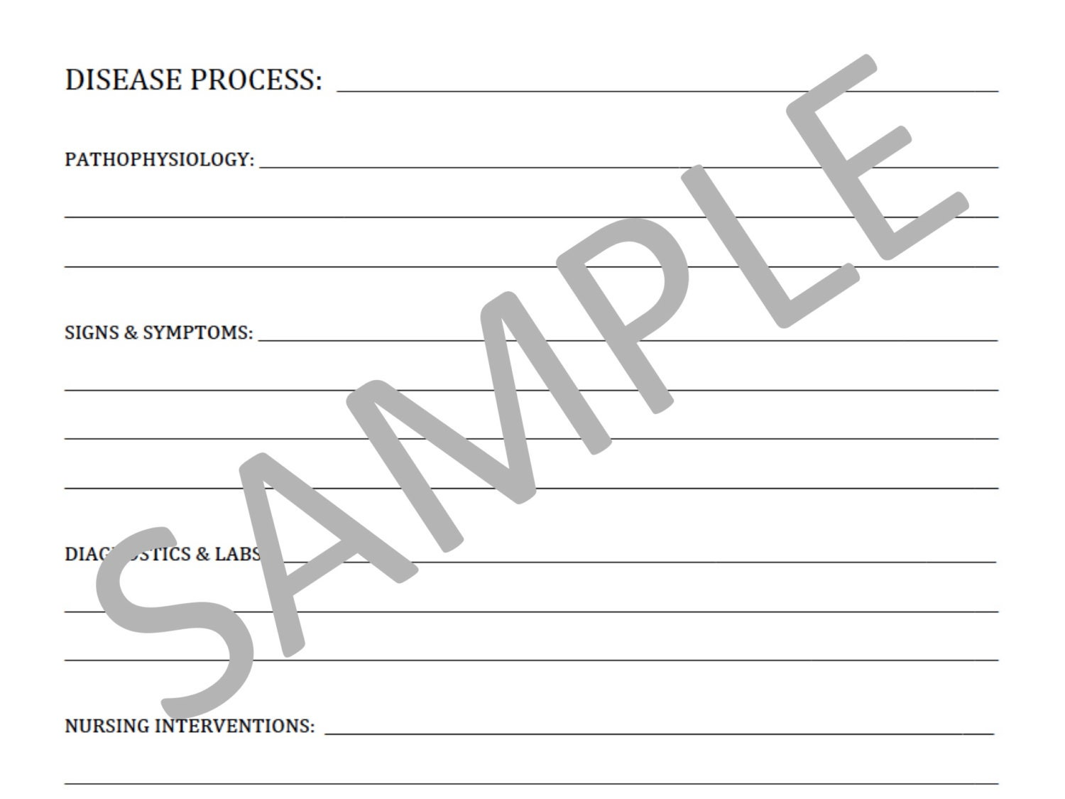 template for progress notes