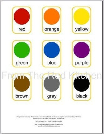 Items Similar To Colors Flashcards Pdf 11 Basic Colors