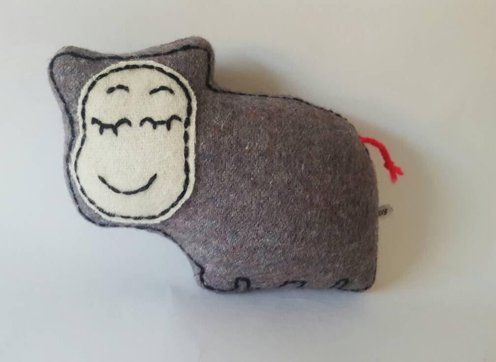 Grey Baby Sleepy Hippo soft toy