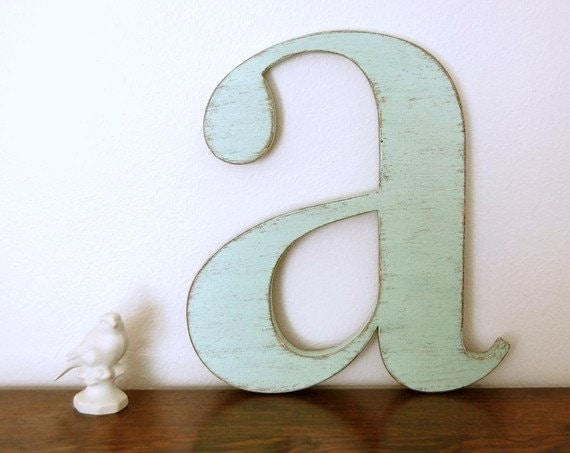 nursery wall letters wood letter a you choose by oldnewagain. Black Bedroom Furniture Sets. Home Design Ideas