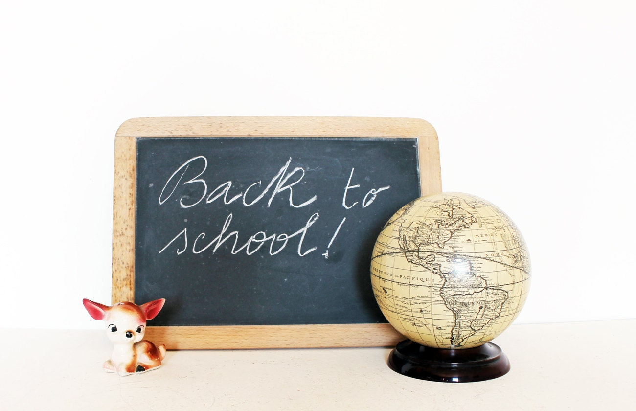 Vintage chalkboard back to school - AnnaLouVintage