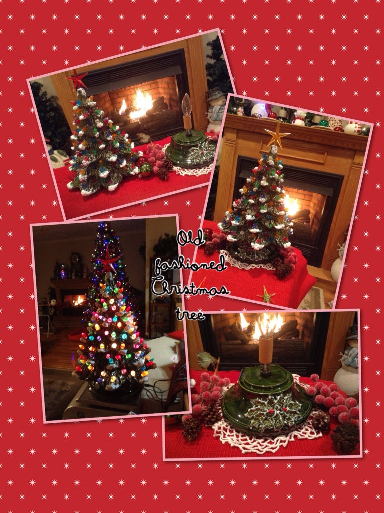 ceramic christmas tree old fashioned by enchantdmushroomland. Black Bedroom Furniture Sets. Home Design Ideas