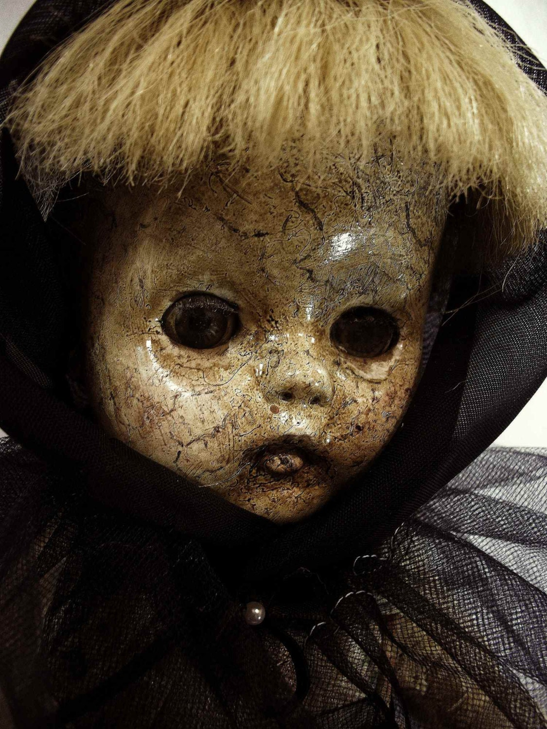 Creepy Vintage Doll Orphaned One of A Kind Altered by ... Creepy