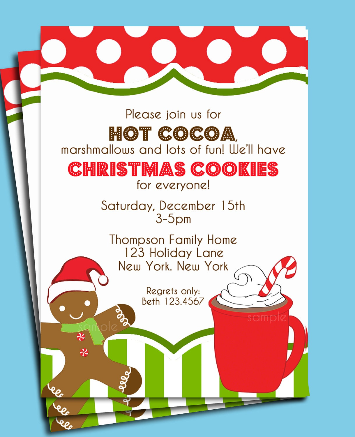Christmas Cookie Decorating Party Invitations