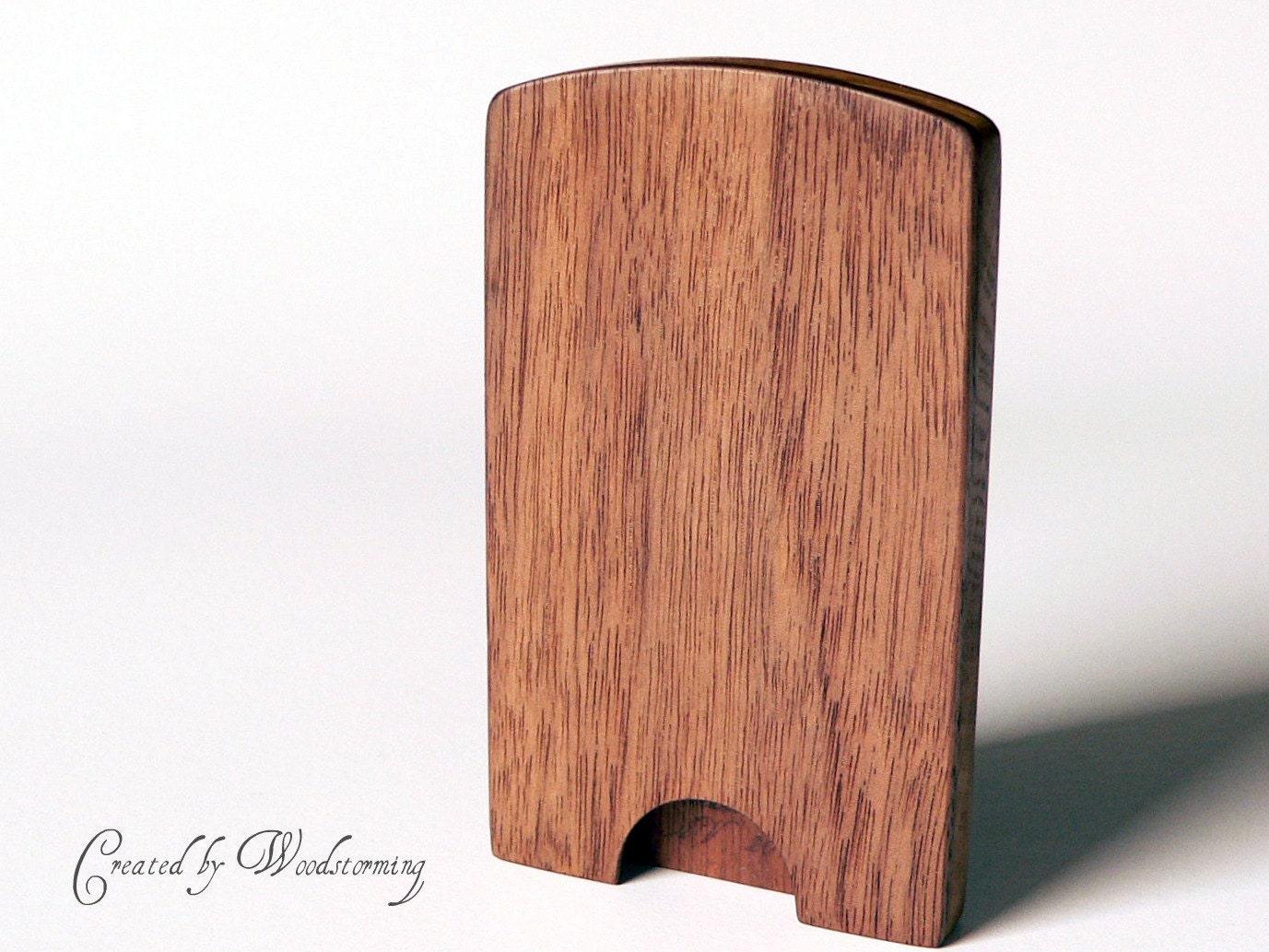 Wooden business card case handmade gift for men by for Wooden business card case