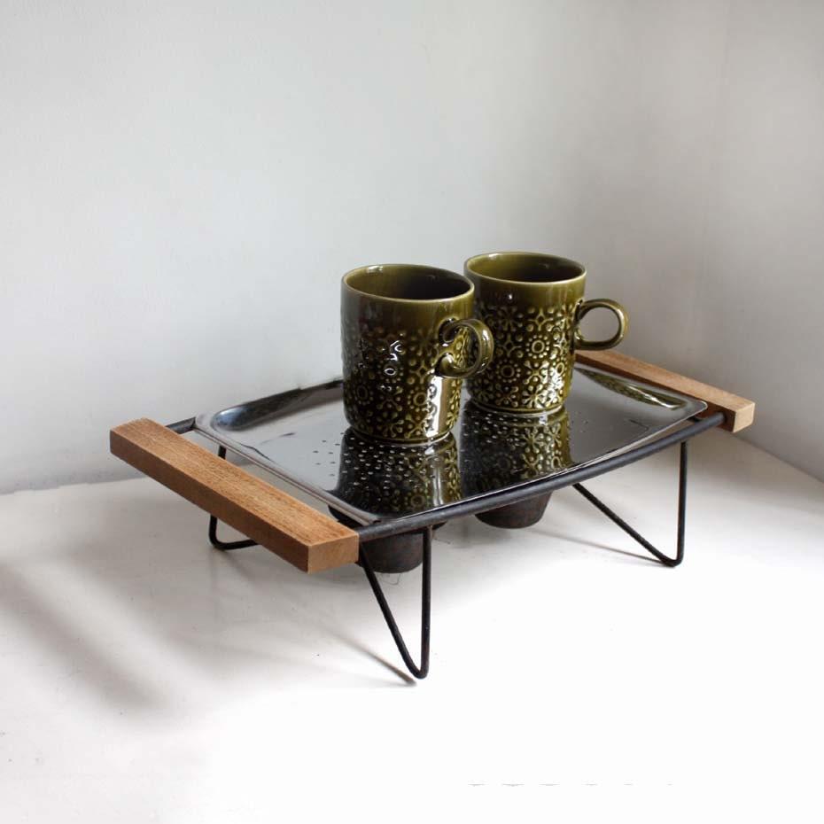 Fabric Plate Warmer ~ Vintage tea light plate warmer atomic age by projectsarafan