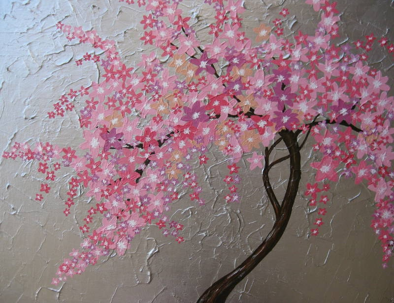 Items similar to cherry blossom tree trees large abstract ...