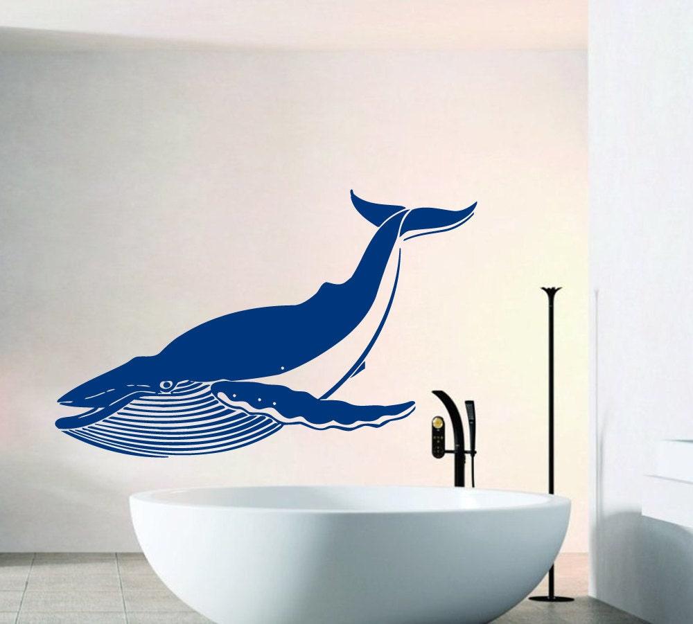 Whale bathroom decor
