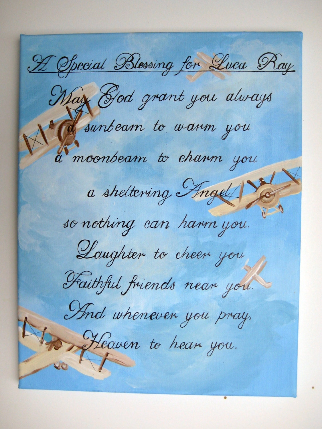 A Personalized Irish Blessing For A Baby Boy By
