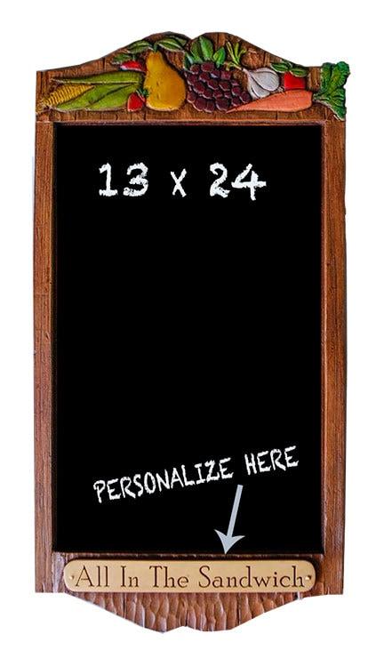 Decorative Personalized Kitchen Chalkboard By Alpisano On Etsy