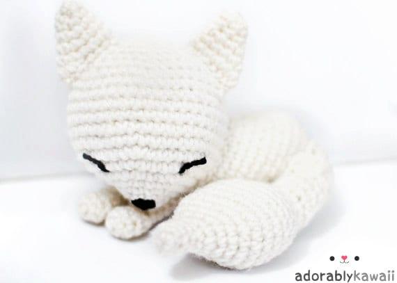 Kawaii Sleepy Fox Amigurumi Plush Doll Toy PRE by ...