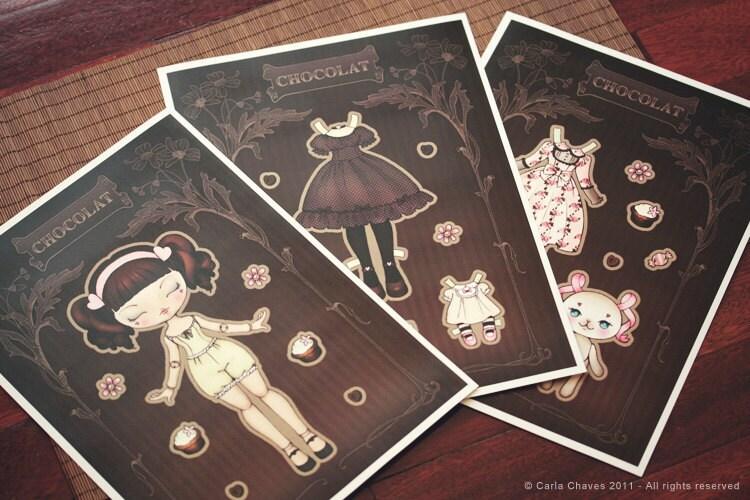 Chocolat paper doll