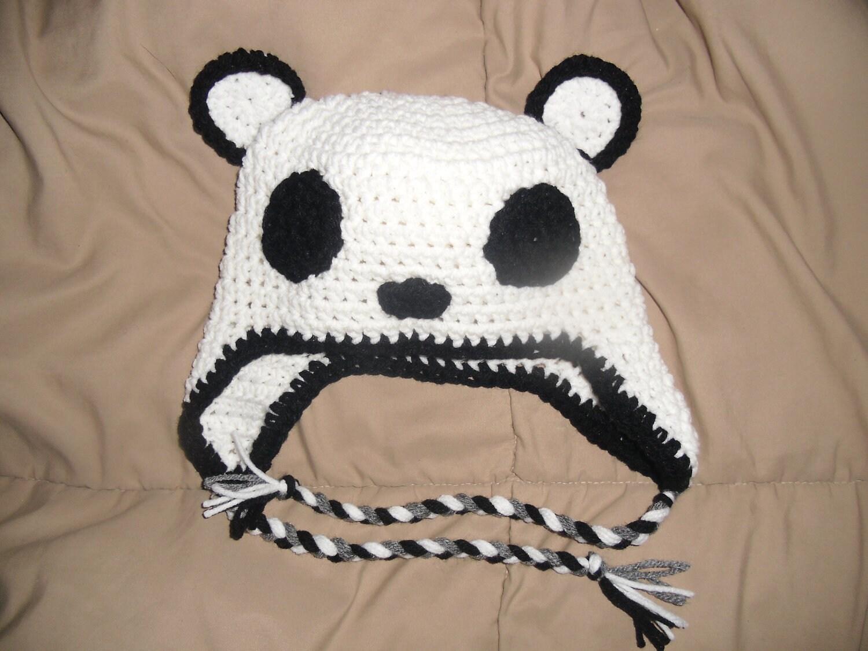 Crochet Panda Beanie