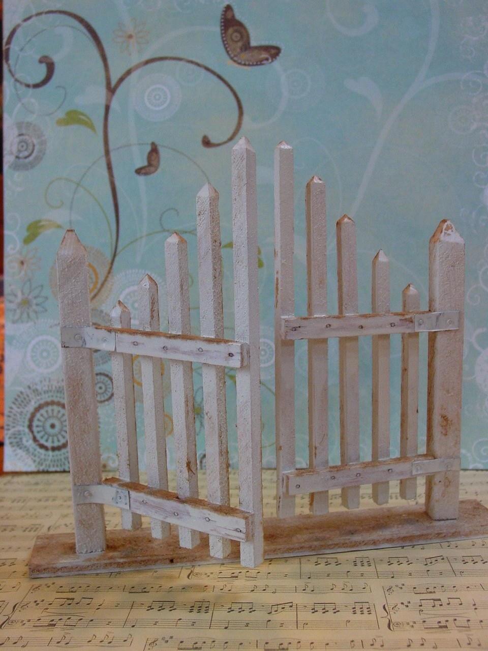 Handmade Vintage Fairy Garden Gate by GardenSpellGhostTale