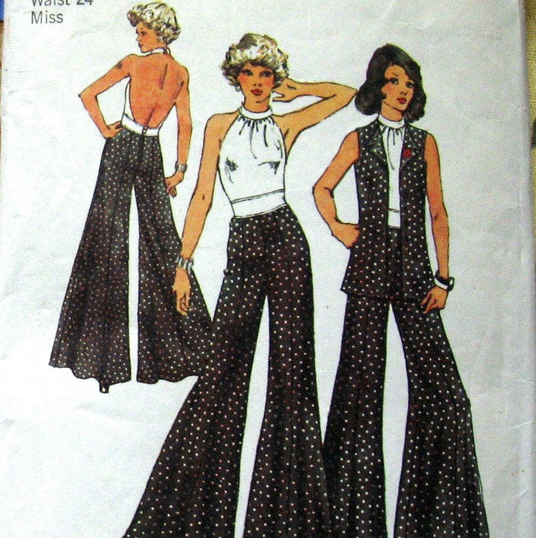 Sewing pattern vintage 70s womens bare back by kalliedesigns