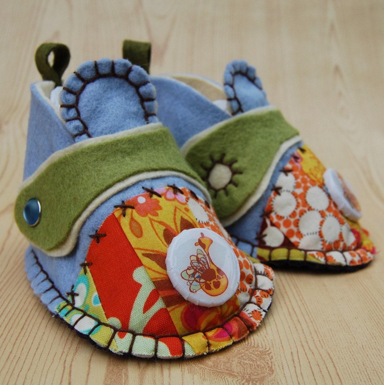 Лоскутная и войлок детская обувь