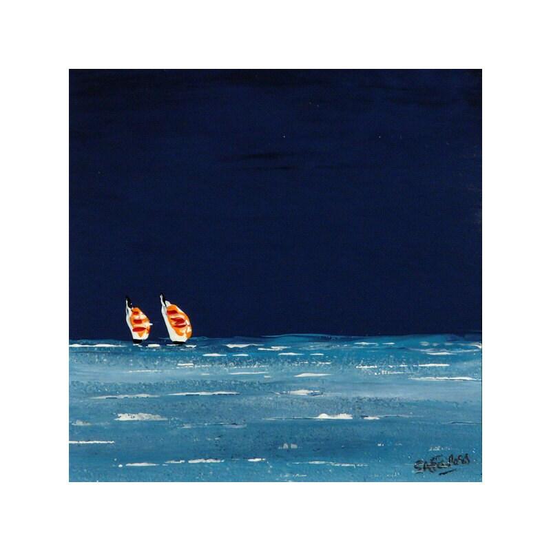 Two Sails original seascape painting