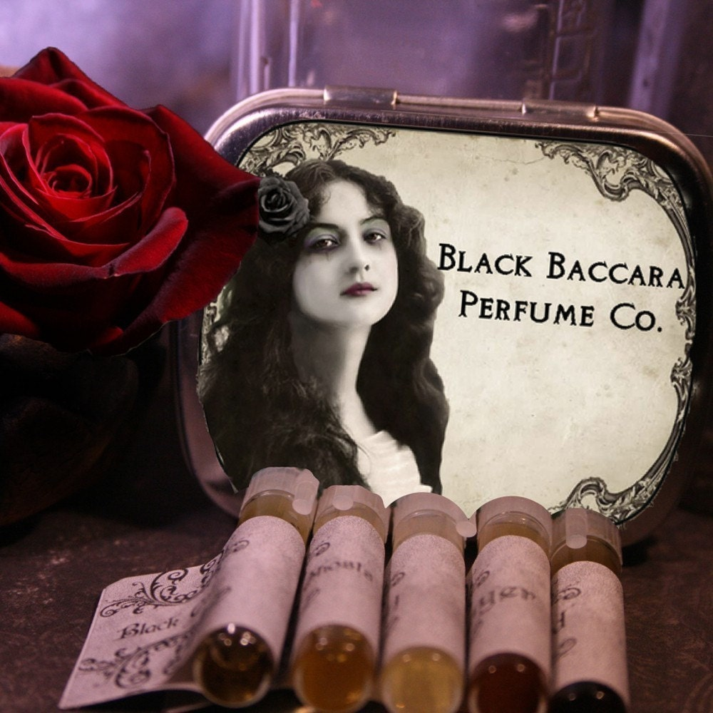 Artisan Perfume Oils Pick Any Ten Sample Vials Set - BlackBaccara
