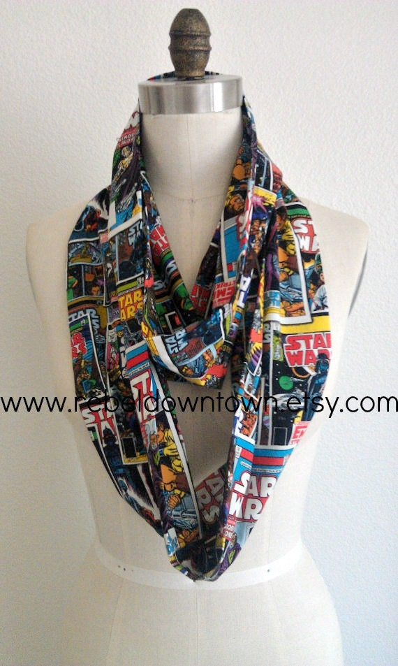 Knitting Pattern For Star Wars Scarf : Star Wars Comic Infinity Scarf by RebelDowntown on Etsy
