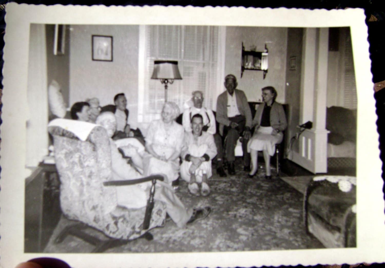 Family Snapshot 1940s Living Room Decor