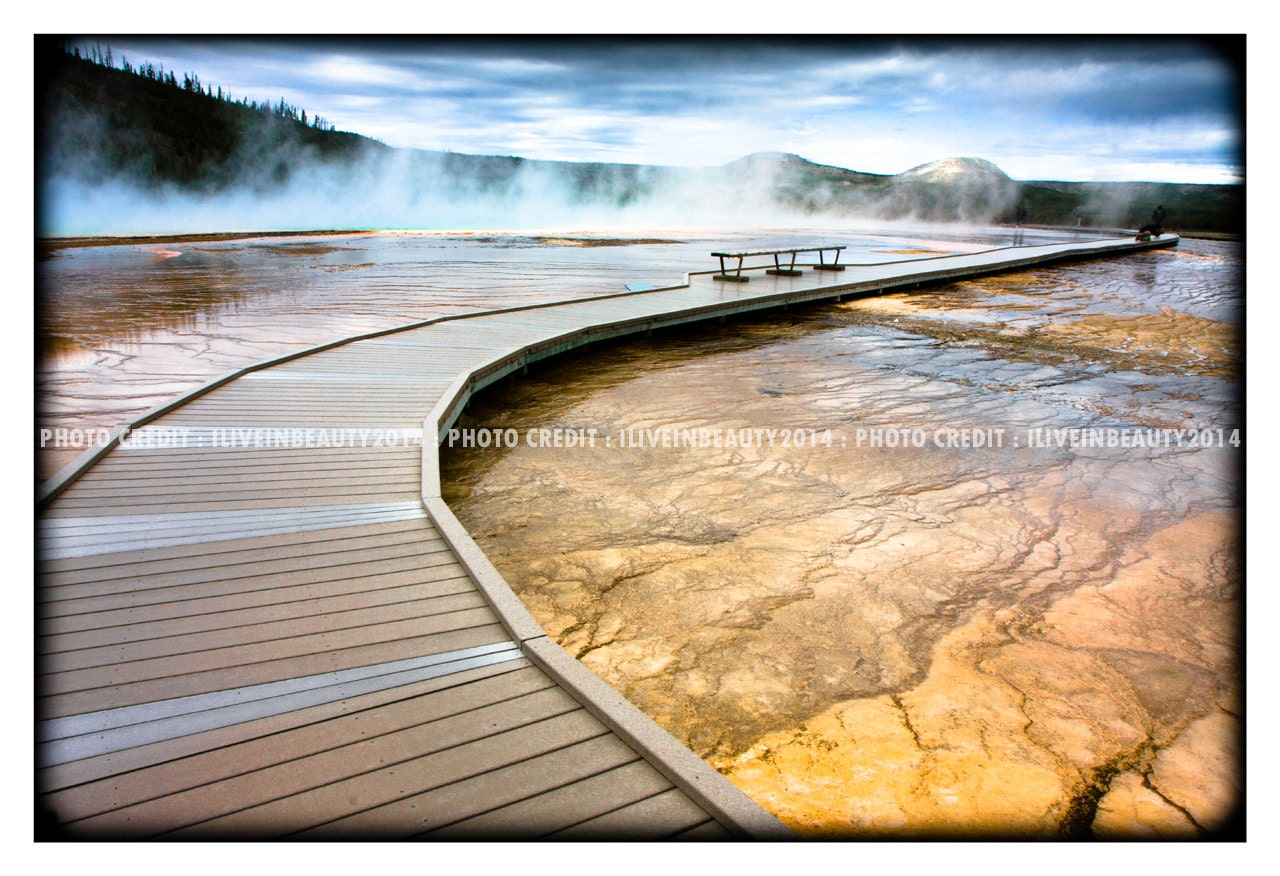 YinYang Walkway - Yellowstone National Park - ILIVEINBEAUTY