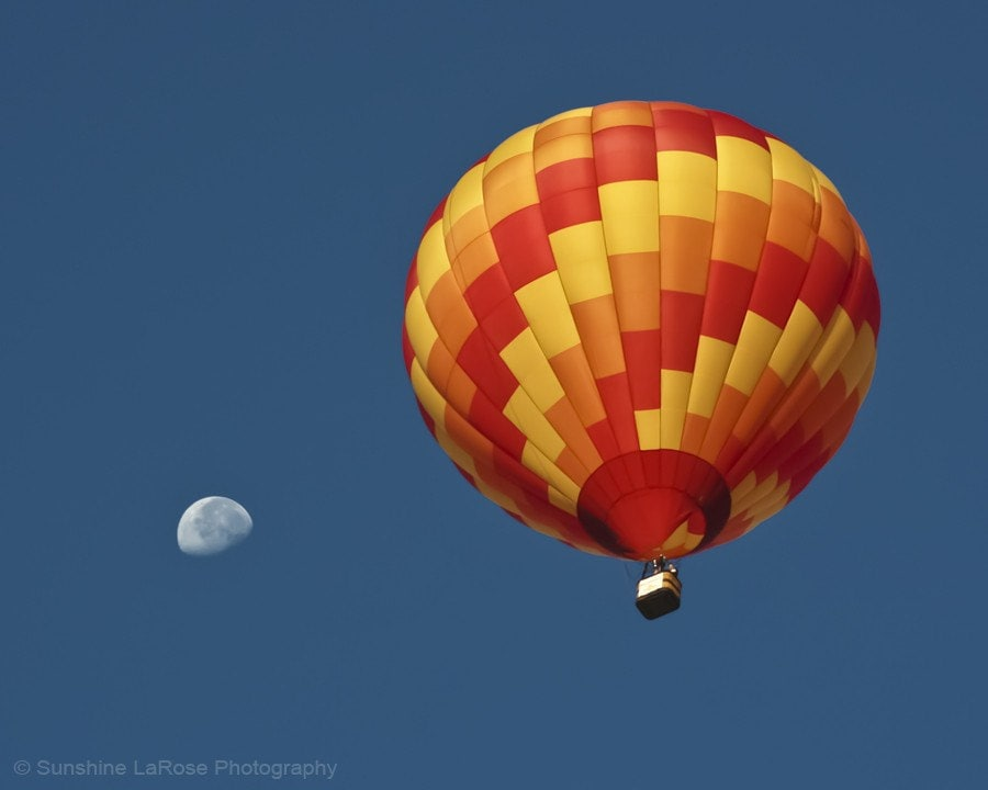 Fly Me To The Moon 8x10 Metallic Fine Art Hot Air Balloon Photograph - SunshineLaRosePhotos